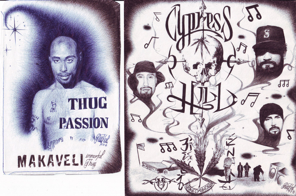 Cypress Hill & 2Pac, illustration