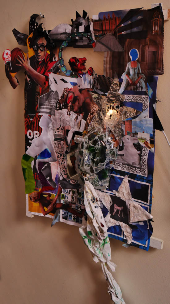 No dada left, Installation-Collage