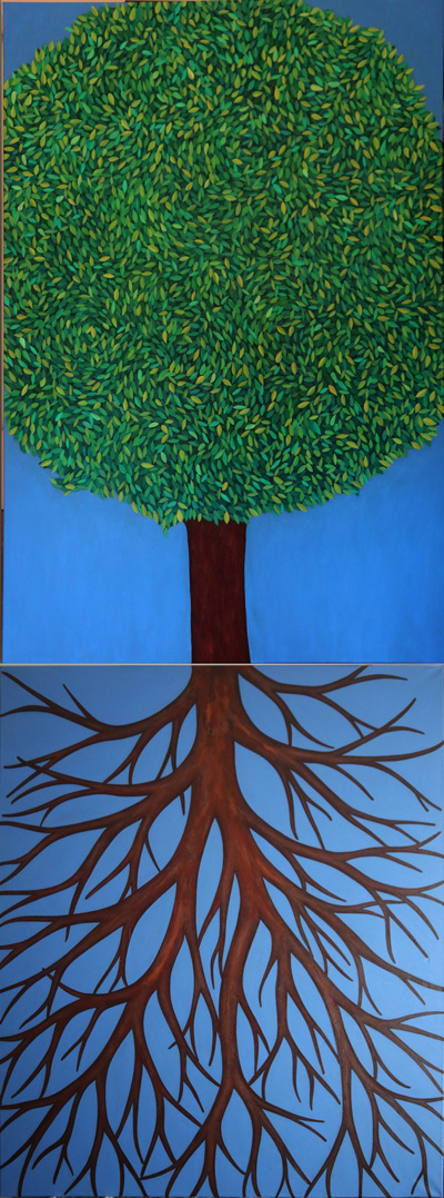 Tree, oil Painting on canvas