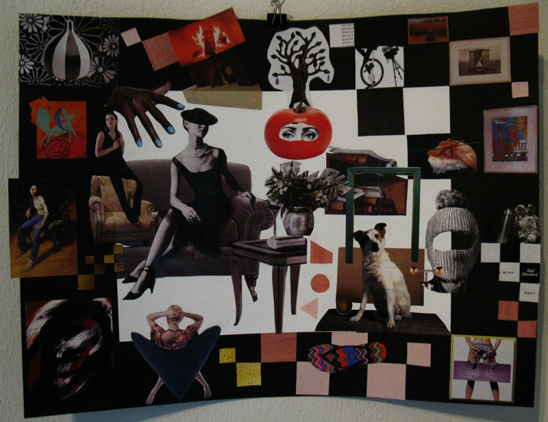 Collage Art made on Together - International Collage Collaboration Exhibition & WorkShop
